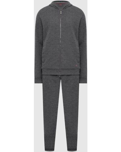 Шерстяной спортивный костюм - серый Isaia