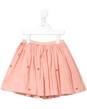 Spódnica plisowana - różowa Velveteen