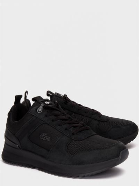 Текстильные кроссовки - черные Lacoste