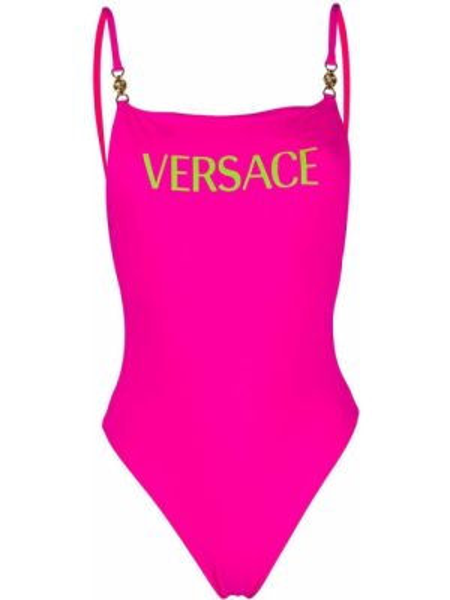 Купальник с логотипом с открытой спиной Versace