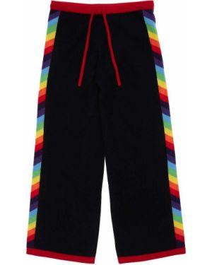Кашемировые брюки с полосками по бокам в полоску с завязками Madeleine Thompson