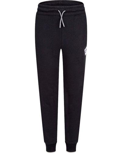 Хлопковые повседневные черные брюки Jordan