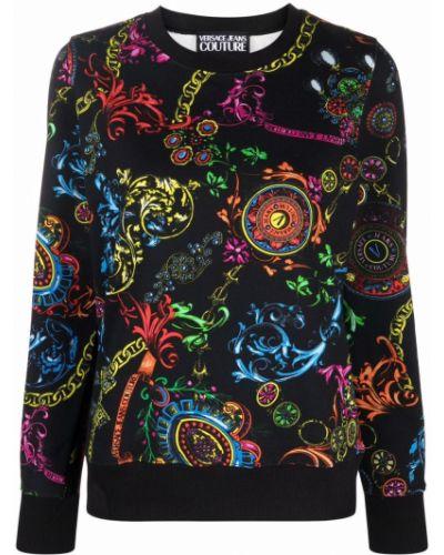 Хлопковый свитшот - черный Versace Jeans Couture