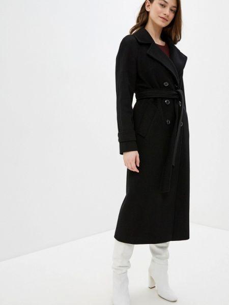 Черное пальто с капюшоном Avalon