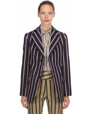 Синий пиджак в полоску с карманами Vivienne Westwood
