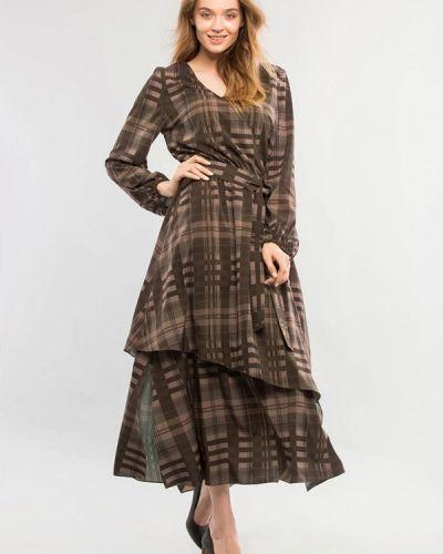 Платье - коричневое Maxa