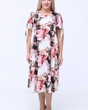 Платье мини на пуговицах с карманами с вырезом круглое Luxury