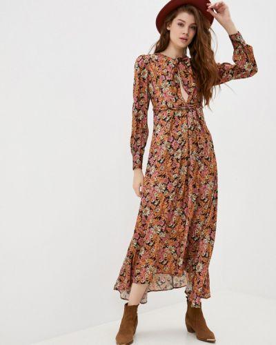 Прямое коричневое платье Please