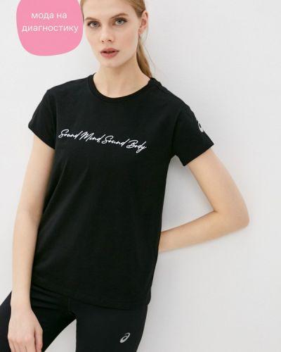 Черная футболка Asics