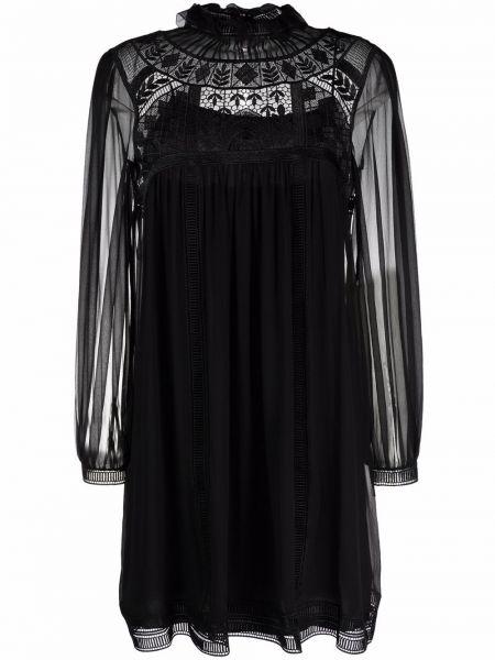 Кружевное платье - черное Alberta Ferretti