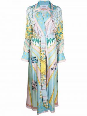 Платье миди с длинными рукавами Casablanca