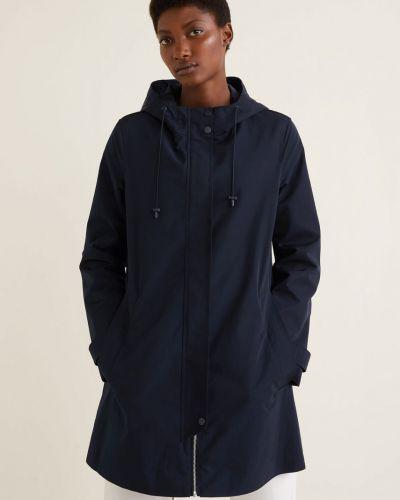 Куртка с капюшоном в клетку с карманами Mango