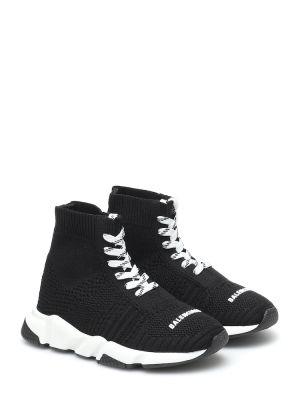 Włókienniczy ażurowy czarny sneakersy zasznurować Balenciaga Kids