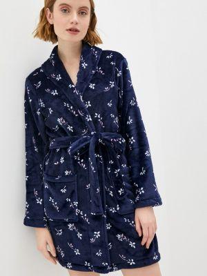 Синий флисовый домашний халат Nymos