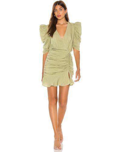 Światło bawełna z rękawami sukienka mini z zamkiem błyskawicznym L'academie