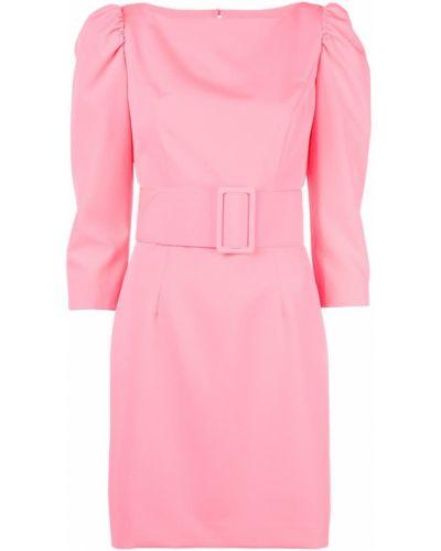 Платье мини розовое на пуговицах Milly