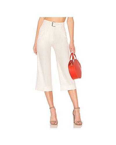 Белые брюки со складками Majorelle