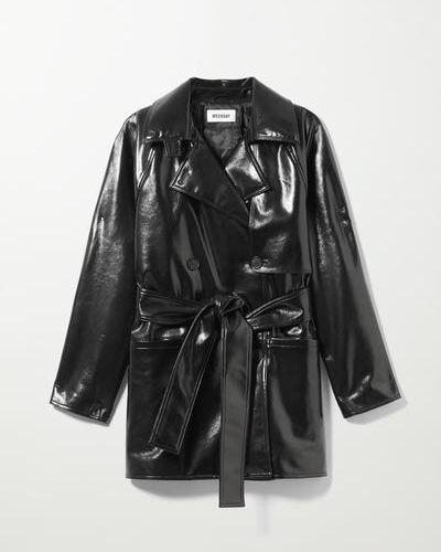 Кожаная куртка короткая - черный Weekday