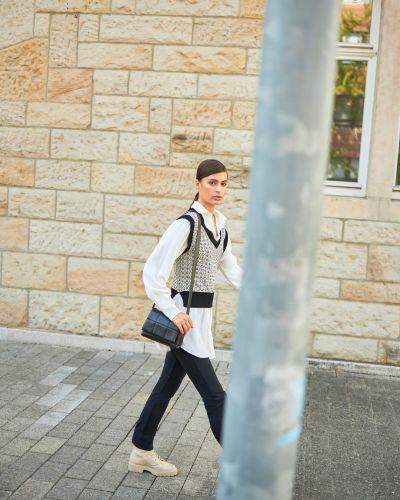 Kamizelka dzianinowa - biała Orsay