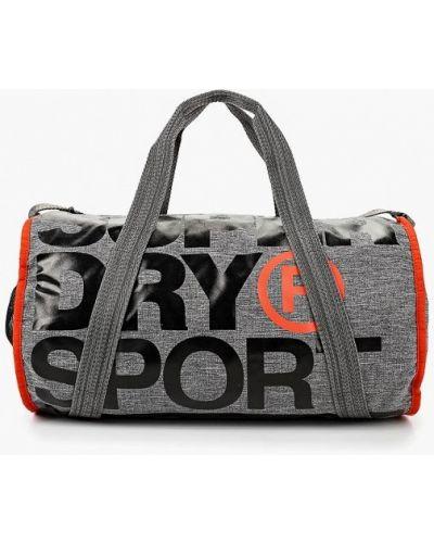 Серая дорожная сумка Superdry