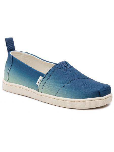 Półbuty - niebieskie Toms