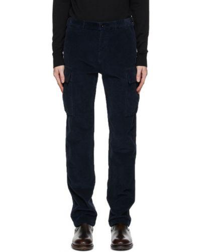 Bawełna czarny spodnie o prostym kroju z paskiem na paskach Belstaff