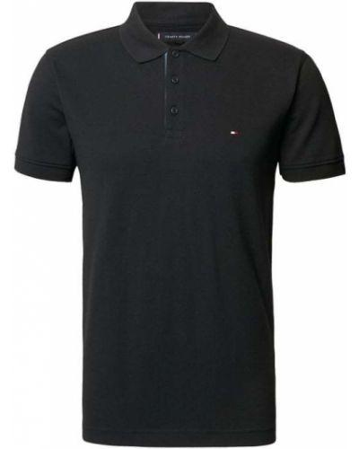 T-shirt bawełniana - czarna Tommy Hilfiger