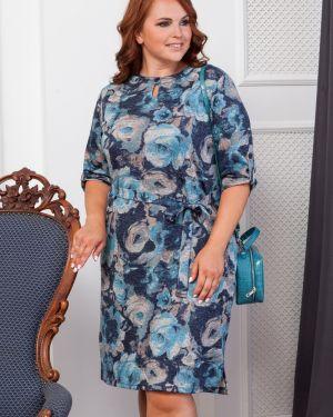 Повседневное платье на пуговицах с цветочным принтом Valentina