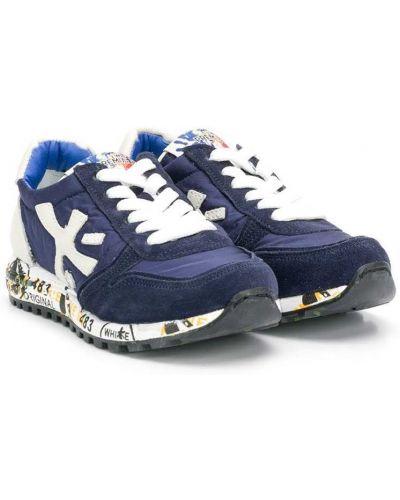 Синие нейлоновые кроссовки Premiata Kids