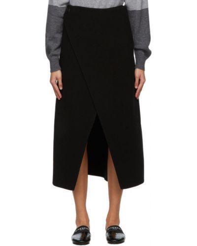Wełniany czarny spódnica Givenchy