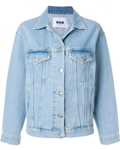 Джинсовая куртка с заплатками Msgm