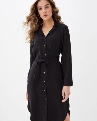 Черное платье-рубашка Zarina