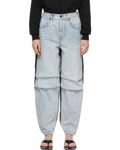 Черные джинсы с вышивкой Alexander Wang