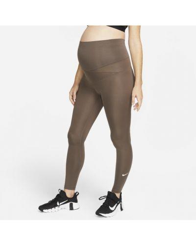 Brązowe spodnie ciążowe Nike