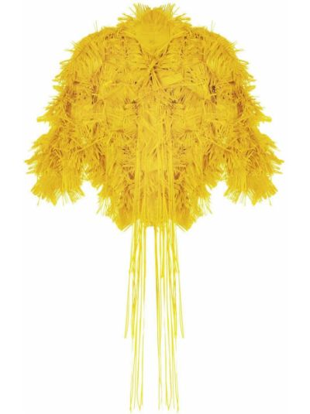 С рукавами желтый пиджак с круглым вырезом Paskal