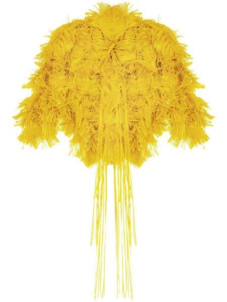Пиджак с бахромой - желтый Paskal