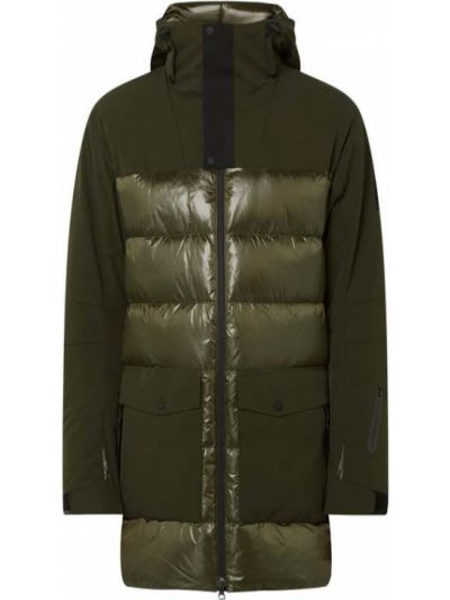 Zielony płaszcz z kapturem w paski Bogner Fire + Ice