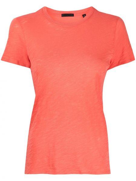 Pomarańczowy t-shirt bawełniany krótki rękaw Atm Anthony Thomas Melillo