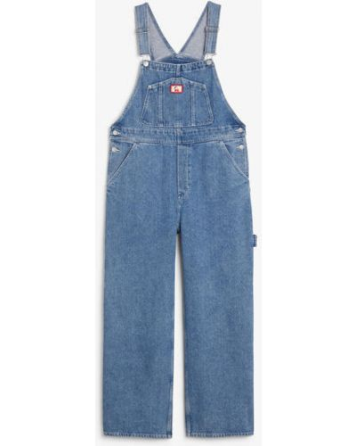 Синий джинсовый комбинезон Monki