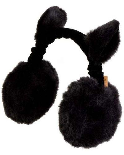 Czarny nauszniki sztuczne futro z futrem Barts