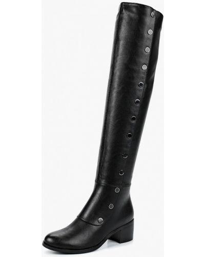 Черные кожаные ботфорты Bona Dea