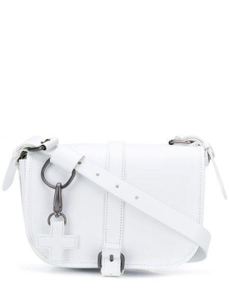 Белая сумка через плечо с перьями на молнии с карманами A.f.vandevorst