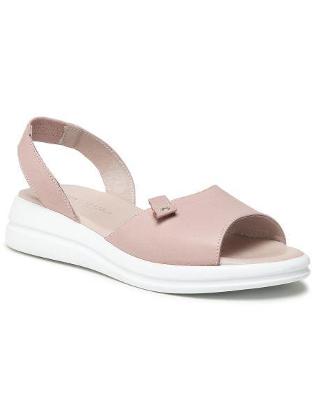 Różowe sandały Badura