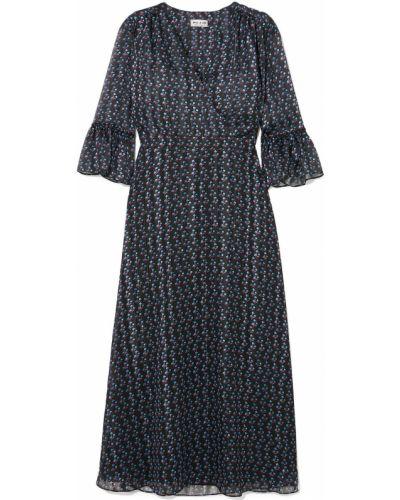 Шифоновое черное платье с манжетами Paul & Joe