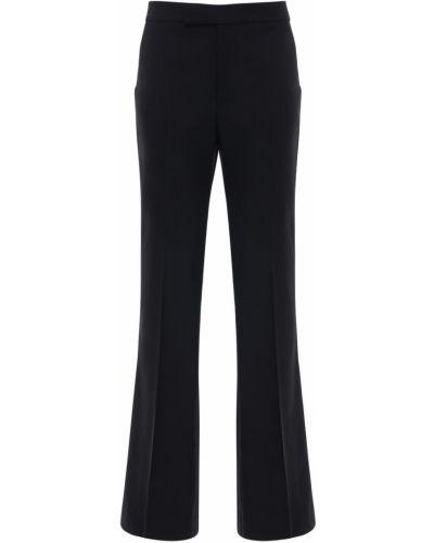 Расклешенные шерстяные брюки с карманами Polo Ralph Lauren