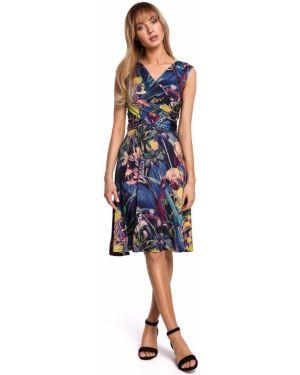 Sukienka letnia z rękawami sukienka z sukienką Style