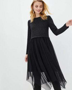 Вечернее платье осеннее черное Zubrytskaya