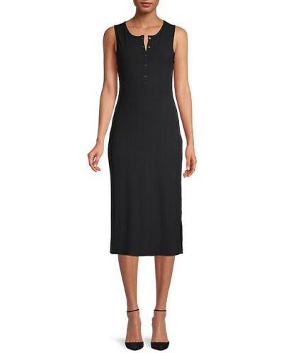 Черное платье миди без рукавов Bcbgeneration