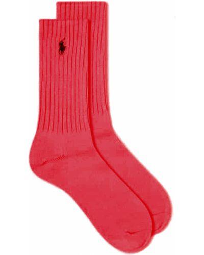 Czerwone skarpety Polo Ralph Lauren