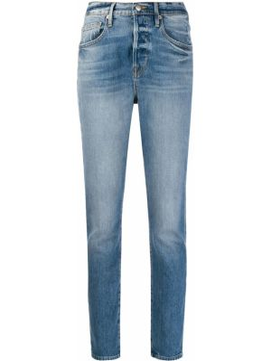 Синие хлопковые джинсы варенки на молнии Frame